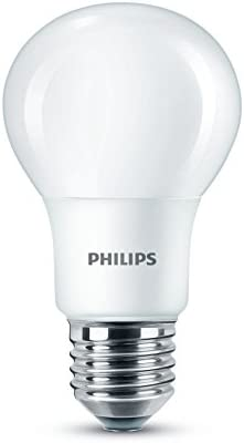 Philips LED E27 Edison Screw Light Bulbs, Frosted, 8 W (60 W) - Warm White, Pack of 24