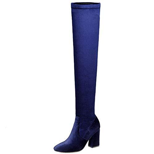 Bottes Taoffen Cavalieres Bottes Bottes Femmes Bleu Cavalieres Taoffen Femmes Cavalieres Bleu Taoffen 5xpp4XZ