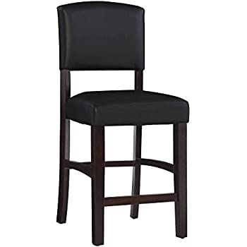 Amazon Com Monaco Stool 24 Quot Dark Espresso Kitchen Amp Dining