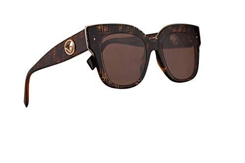 Fendi FF0359/G/S Sunglasses Tortoise Camu w/Burgundy Lens 51mm H7P4S FF 0359/G/S