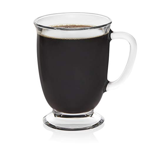 Libbey Kona Glass Coffee Mugs, set of 6 -