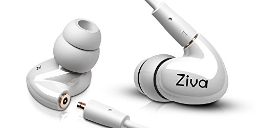 Cheap Ziva Indulge Dual Dynamic Driver Detachable Cable Musician's in Ear Monitors, White