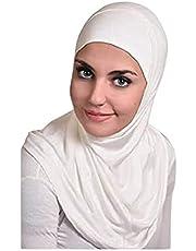 حجاب سوري قطعتين - أبيض