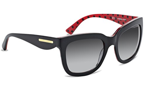 Dolce & Gabbana DG4197 Sunglass-28718G Black/Red (Gray Grad - Gold Gabbana Leaf Dolce & Sunglasses