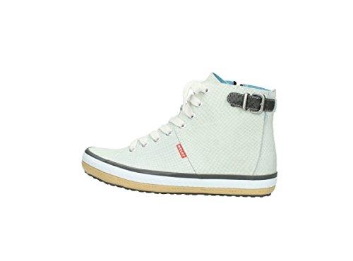 Wolky Comfort Sneakers Biker 60120 In Pelle Stampa Serpente Offwhite
