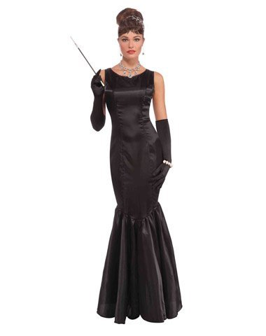 High Society Dress (High Society Long Black Dress (Adult Costumes) - Female - One Size)
