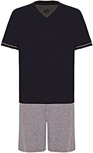 Conjunto de pijama Curto - Gola V Lupo Masculino (Adulto)