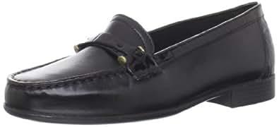 Clarks Women's Clarks Moody Bella Slip-On Loafer,Black Leather,6.5 M US