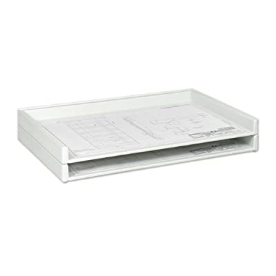 "Safco Products 4897 Giant Stack Tray for 24"" x 36"" Documents, White"