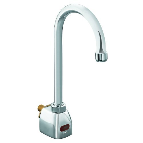 Moen 8304 Commercial M-Power Wall-mount Battery Powered Sensor-Operated Faucet .5 gpm, Chrome
