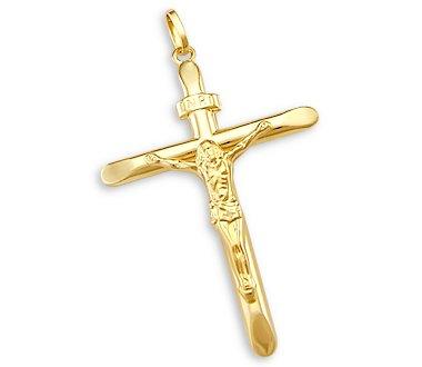 Amazoncom 14k Yellow Gold Cross Crucifix Pendant Charm NEW Gold
