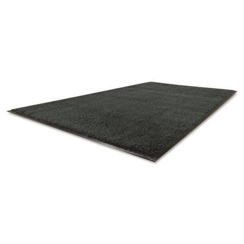 Guardian Platinum Series Indoor Wiper Floor Mat, Rubber with Nylon Carpet, 3'x5', Black