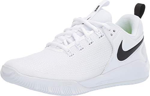 Nike Women's Zoom Hyperface 2 Volleyball Shoes (9.5 B(M) US, White/Black) (Nike Medium Shoes)