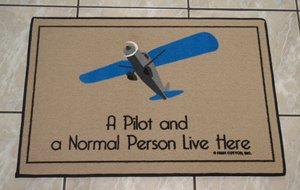 [Pilot and Normal Person Live Here Door Mat] (Live Here Door Mat)