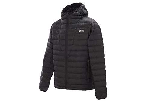 Sierra Designs Men's Whitney DriDown Hoodie, 800 Fill Winter Jacket, X-Large, Black (800 Down Hoodie)