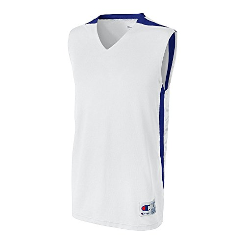 Mester Men`s Og Ungdom Supreme Basketball Jersey Hvit / Royal