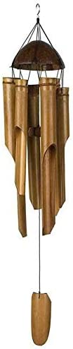Whz-ZYF クリエイティブ竹風チャイム手作りのナチュラルリングホームデコレーション風チャイムは飾り屋外の庭風鈴をぶら下げ 、耐久性