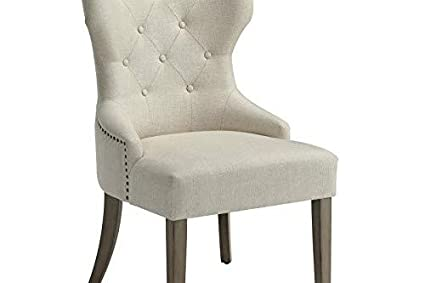 Amazon Com Florence Upholstered Dining Chair With Tufted Back