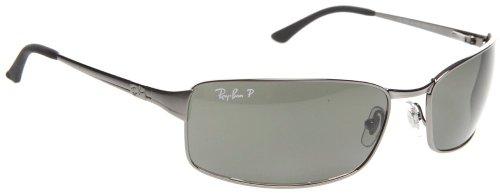 cd91ae422fd Ray-Ban Mens Sunglasses (RB3269) Gunmetal Green Metal - Polarized - 63mm  (B000KU4D8U)