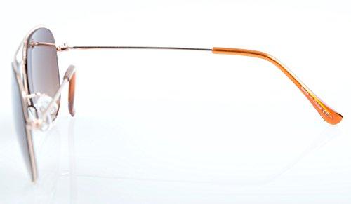 de Dore Lunettes marron inoxydable monture Eyekepper acier aviateur à enfant type soleil de en xI7wpqRg