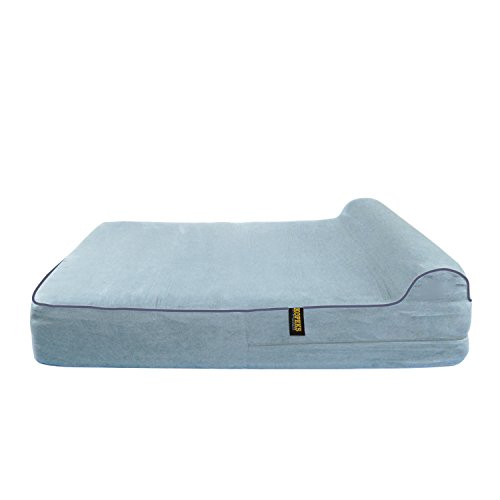 Cheap KOPEKS Dog Bed Replacement Cover Memory Foam Beds – Grey – Extra Large (Jumbo Size)