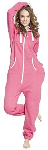 Pink Womens Onesie (SKYLINEWEARS Women's Ladies Onesie Hoodie Jumpsuit Playsuit X-Large)