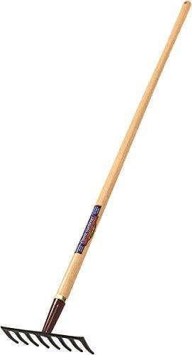 Truper 31392 Classic Gardener Level Rake, 8-Tine, Ash Handle, 54-Inch