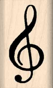Stamps by Impression ST 3053 Treble Clef Rubber Stamp