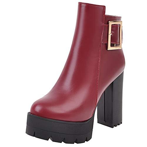 Mavirs Womens Marese Block Boots, Heel Ankle-high 11 cm Boots, Block Synthetic, 6 B(M) US B07GLWTDGM Shoes bb0e99