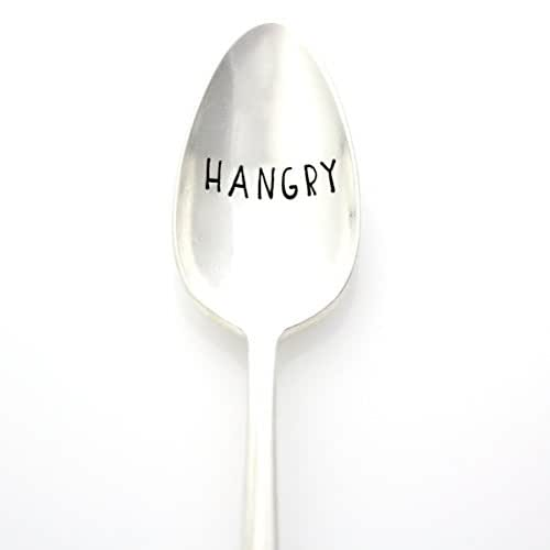 Hangry. Hand Stamped Vintage Spoon. Part of the Martha Stewart American Made Market.