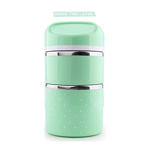 Bento Lunch Box contenedores–Mr. dakai Portable Insulated leakproof Acero Inoxidable Caja de almuerzo para adultos y...