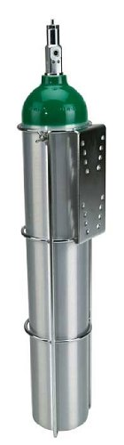 Oxygen Tank Holder for Flat Surface Mounting E Size Cylinder - TANK NOT INCLUDED