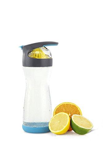 Full Circle Wherever Water Lemon Infuser 20-Ounce Glass Bottle, Blueberry