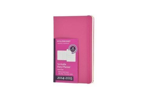 Moleskine 2014-2015 Turntable Weekly Planner, 18M, Pocket, Magenta, Hard Cover (3.5 x 5.5) (2015 Turntable Moleskine Planner)