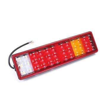 24V 72LED Car Tail Rear Indicator Brake Trun Signal Lamp IP67 Waterproof forTrailer Truck - Tail Light Assemblies ()