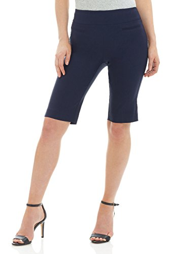 - Rekucci Women's Ease in to Comfort Fit Pull-On Modern City Shorts (6SHORT,Navy)