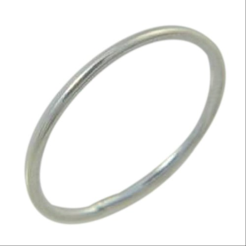 Sterling Silver 1mm Thin Wire Fitted Midi Toe Ring (4) -