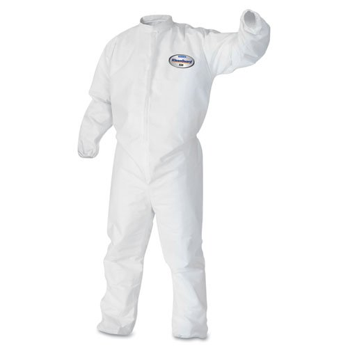 KCC46104 - Kleenguard A30 Elastic-back amp; Cuff Coveralls, White, X-large