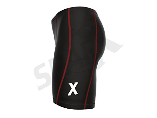 Sparx Energy Compression Triathlon Short Tri Cycling Short Bike Swim Run 7060 (Large, Black/red) by Sparx Sports (Image #3)