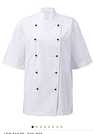 aa83687cb3c Amazon.com  Newshine Unisex Montgomery Classic Short Sleeve Chef Coat   Clothing