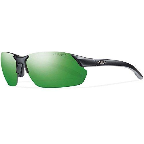 Smith Optics Parallel Max Sunglasses, Matte Black Frame, Green Sol-X Carbonic TLT - Smith D Max Sunglasses