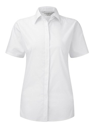 Russell Collection camiseta de manga corta Ultimate Stretch para mujer blanco