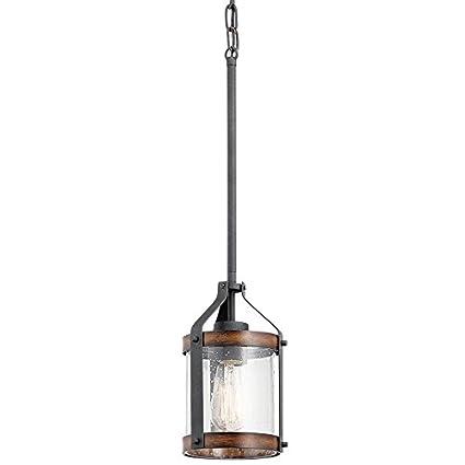 Amazon.com: Kichler Lighting Barrington Distressed Black and Wood ...