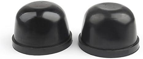 2pcs 90mm Rubber Housing Seal Cap Anti Dust Cover For Car Bulb HID Headlight