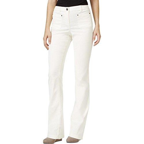 Style & Co. Womens Corduroy Boot Leg Corduroy Pants Ivory ()