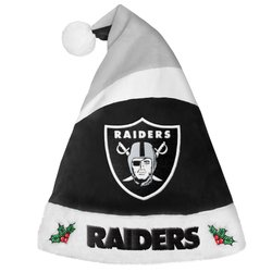 Oakland Raiders Basic Santa Hat - 2016