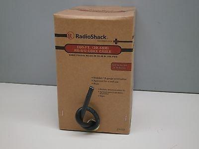 100ft Radioshack RG-6/U In-Wall Shielded Coaxial Coax TVCable 18-Gauge Black