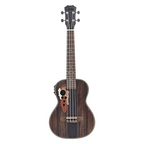 Caramel CT904 Ebony Tenor Acoustic and Electric Ukulele with Truss Rod