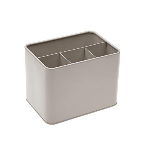 Versa 10370357 - Metal Grey Cutlery Box by Versa