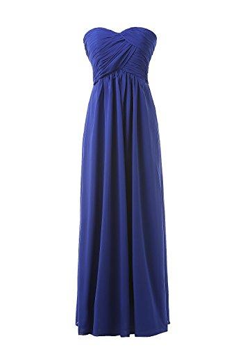 long strapless blue multi dress - 7